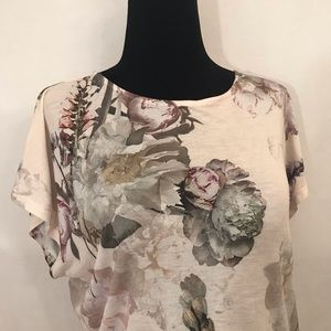 *TED BAKER LONDON* Floral Print Tee - Sz 1 (US4)